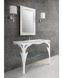 J&J DESIGN - CONSOLLE A MURO CON PIANO LAVABO INTEGRATO NEW TIFFANY