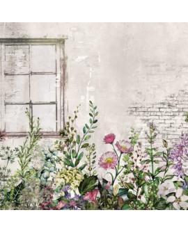 Inkiostro Bianco - Carta Da Parati CAMPORELLA EQ•dekor Fibra di Vetro
