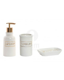 ITEM - SET BAGNO DORADO LETTERE IN PORCELLANA