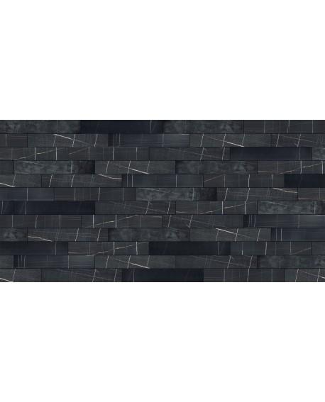ITALGRANITI - Marble Experience SAHARA NOIR LIST.MIX SQ.120X20 MB04EAM